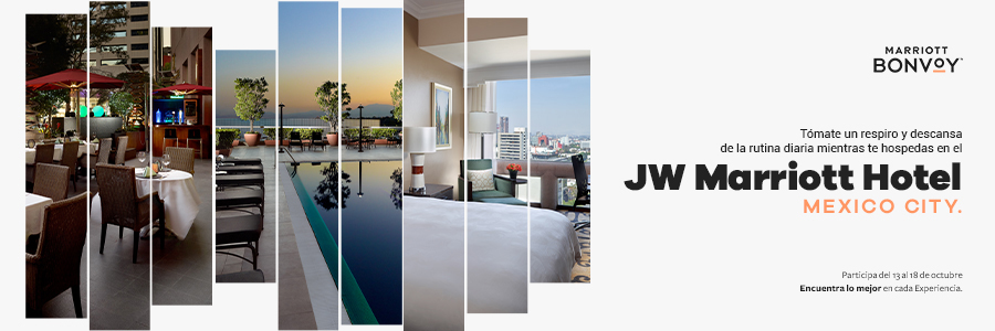¡Regálate un merecido descanso mientras te hospedas en el JW Marriott Mexico City!