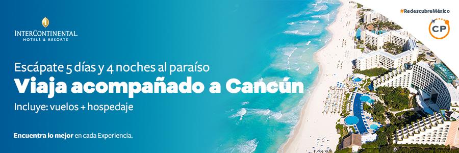 Disfruta del paraíso de Cancún en un viaje doble y hospédate en el InterContinental Presidente