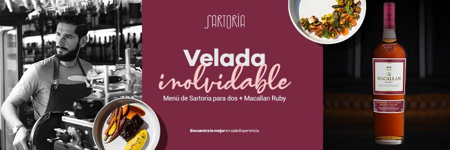 Experiencia culinaria con Sartoria + The Macallan Ruby